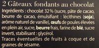 Fondants à la Cuillère Chocolat - Ingredients