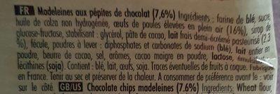 Mini madeleines - Ingredientes - fr