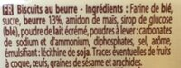 Petit beurre - Ingrédients