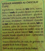 Doonuts Marbrés Chocolat - Ingrédients - fr