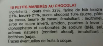 Petits marbrés au chocolat - Ingrediënten - fr
