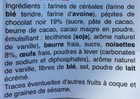 Petits cookies chocolat et noisettes - Ingrediënten - fr