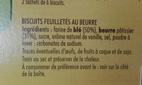 PALMIER AU BEURRE - Ingrediënten - fr