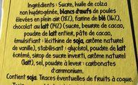 Doonuts Nappé Chocolat - Ingredients - fr