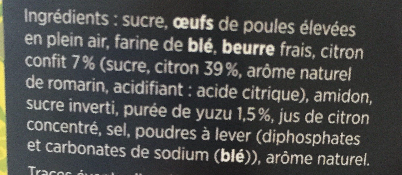 Gâteau Citron Yuzu - Ingredients