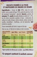 Cocottes abricot éclats d'amandes - Voedingswaarden