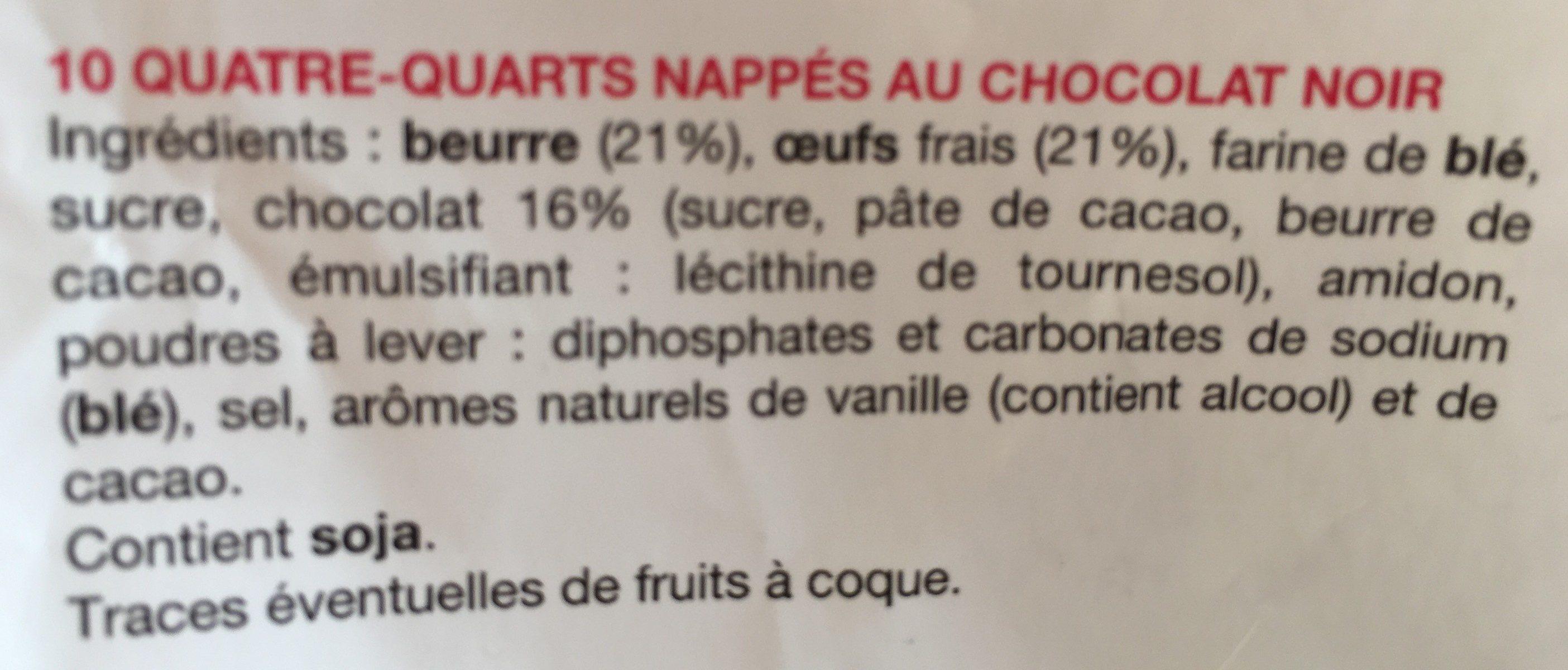 le petit quatre-quarts chocolat noir - Ingrediënten - fr