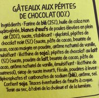 Doonuts aux pépites de chocolat - Ingredients