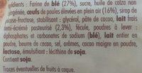 Petites Madeleines Pépites Chocolat - Ingrediënten - fr