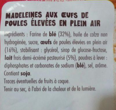Petites madeleines - Ingrediënten