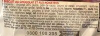 Cookie chocolat noisettes - Ingrediënten - fr