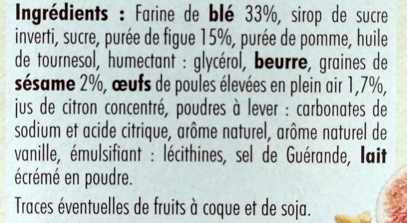Cocottes Figues Graines de Sésame - Ingredients - fr