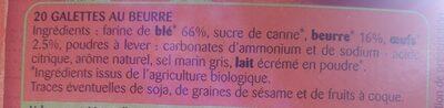 Galettes - Ingrédients - fr
