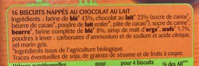 Sablés Nappés chocolat au lait - Ingrediënten