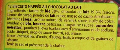 Crousti doonuts nappés chocolat - Ingredients