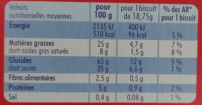 Crousty Buns - Voedingswaarden - fr