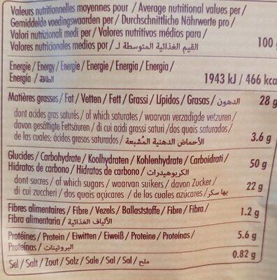 Madeleines saveur vanille - حقائق غذائية - fr