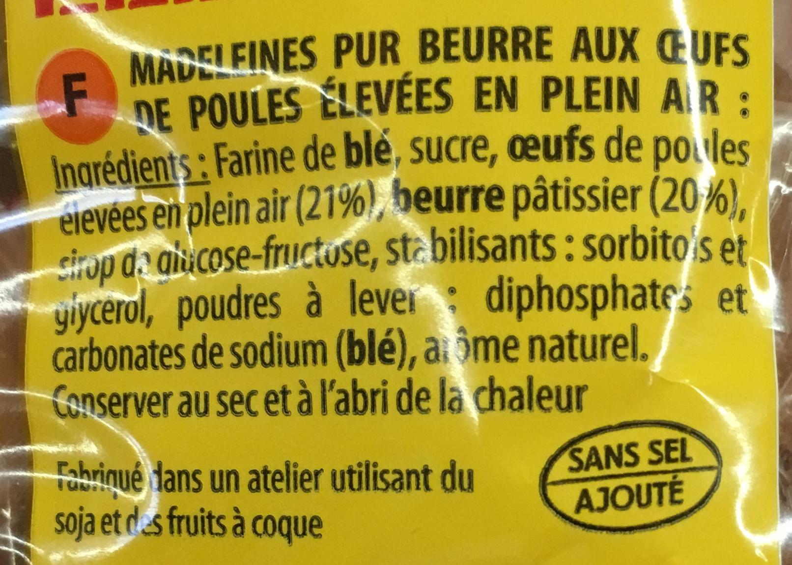 Madeleine recette de commercy pur beurre - Ingredienti - fr