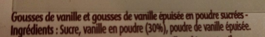 Gousses de vanille en poudre sucrées - Ingredients - fr