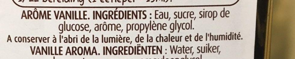Arôme vanille - Ingrédients - fr