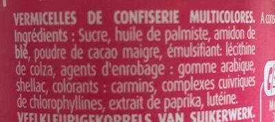 Vermicelles prout de licorne - Ingrédients - fr