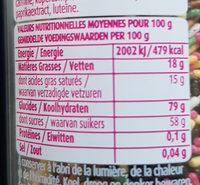 Vermicelles arc-en-ciel - Nutrition facts