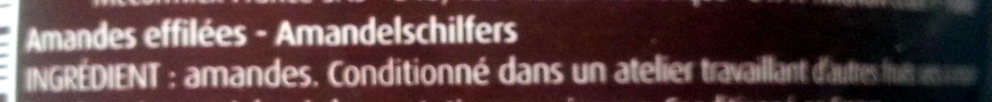 Amandes effilées - Ingrediënten - fr