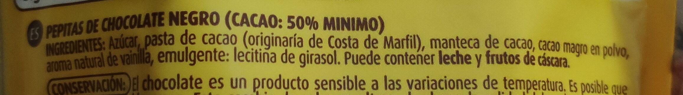 Pepitas de chocolate negro - Ingredients - es