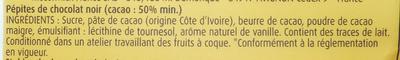 Pépites chocolat noir - Ingredients - fr