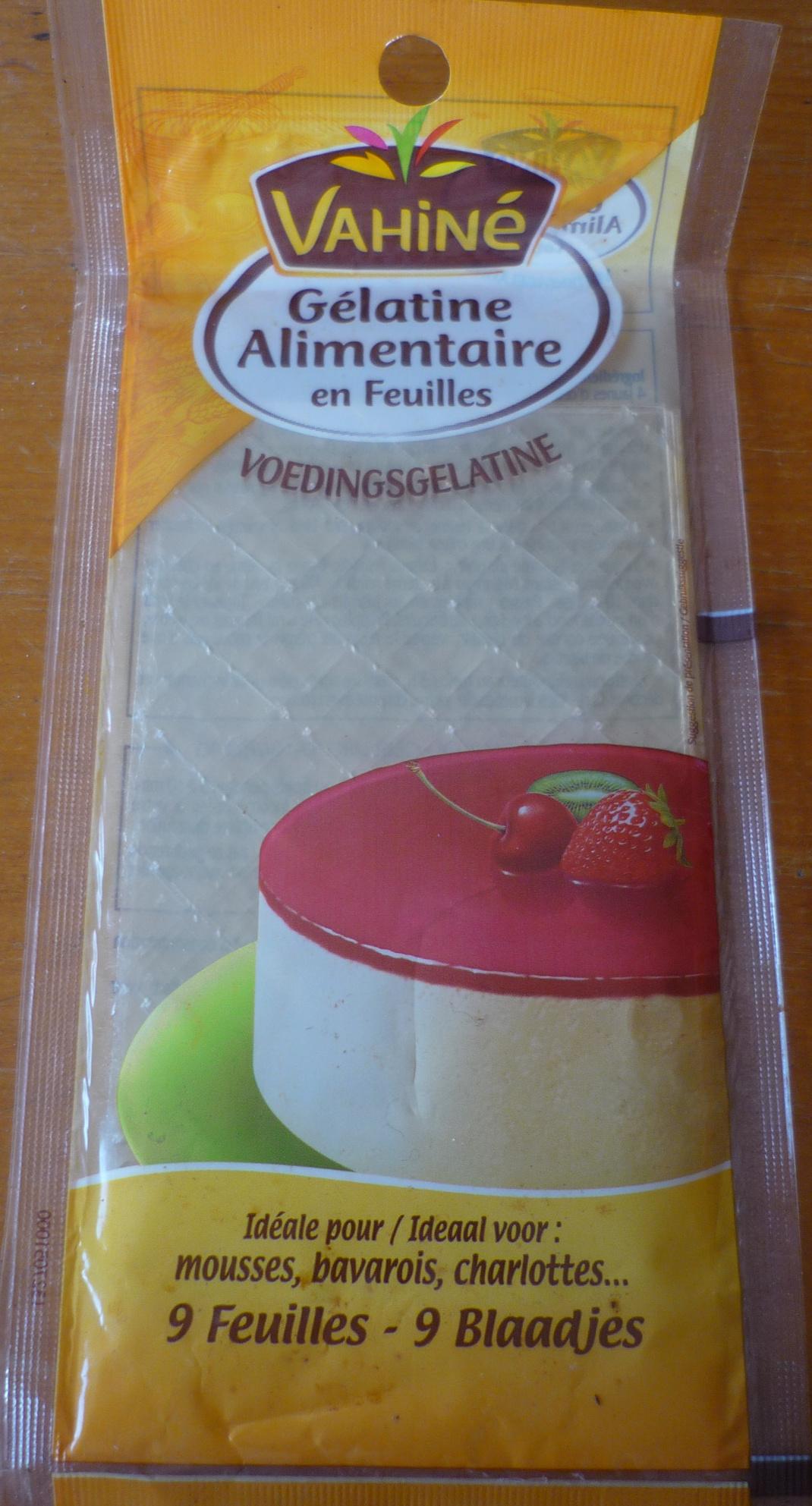 Gélatine alimentaire en feuilles - Produkt - fr
