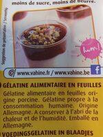 Gélatine alimentaire en feuilles - Nährwertangaben - fr