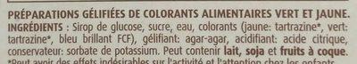 Colorants Alimentaires - Ingrédients - fr