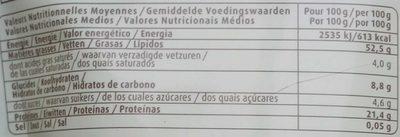 Amandes en poudre - Informations nutritionnelles - fr
