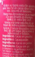 Cacao en poudre - Ingrédients - fr