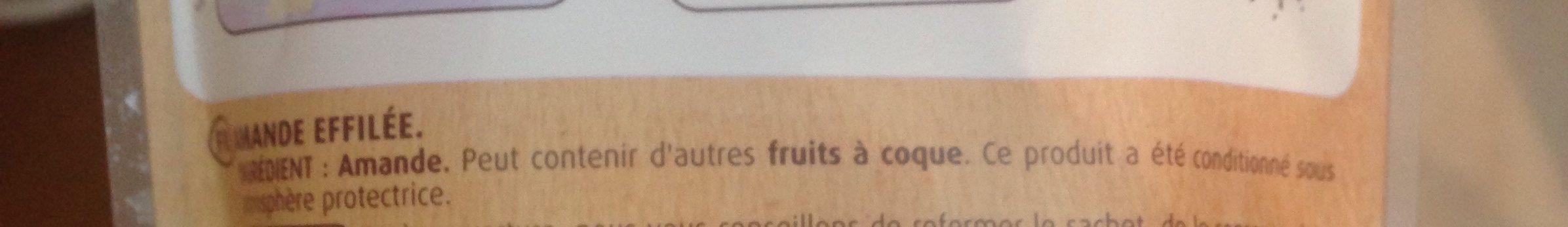 Amandes effilées - Ingrediënten