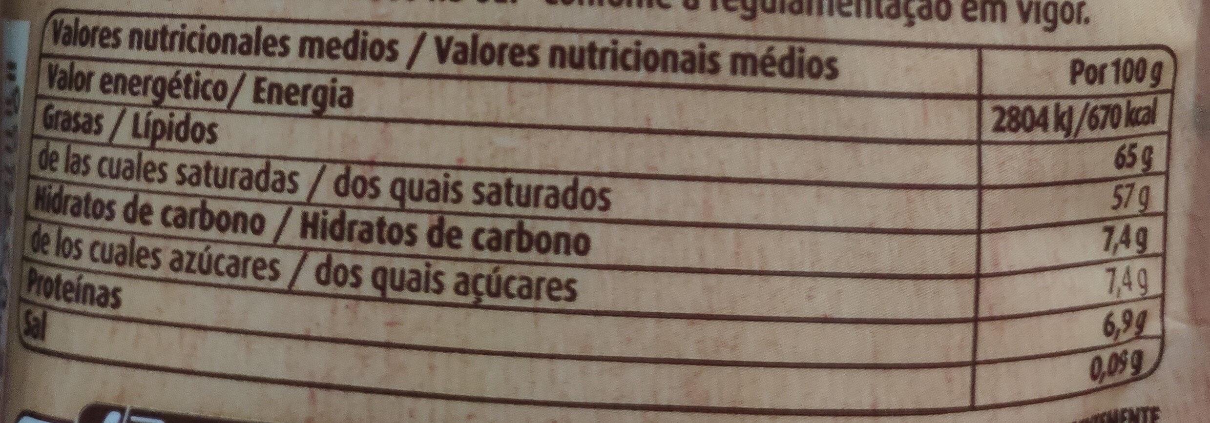 Coco rallado - Informations nutritionnelles - es