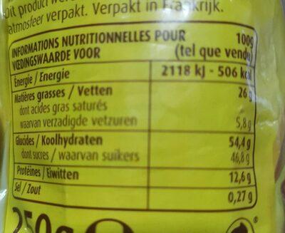 Kit galette des rois amande - Voedingswaarden