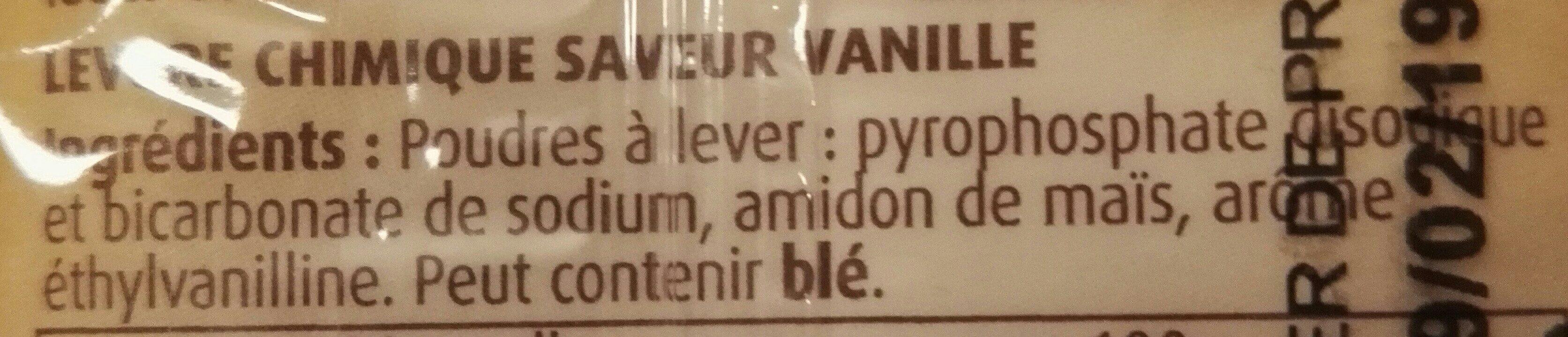Levure chimique saveur vanille Vahiné - Ingredienti - fr