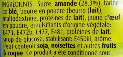 Kit Galette des Rois Amande - Ingredients