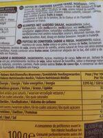 Pepites choco fraise - Informació nutricional - fr
