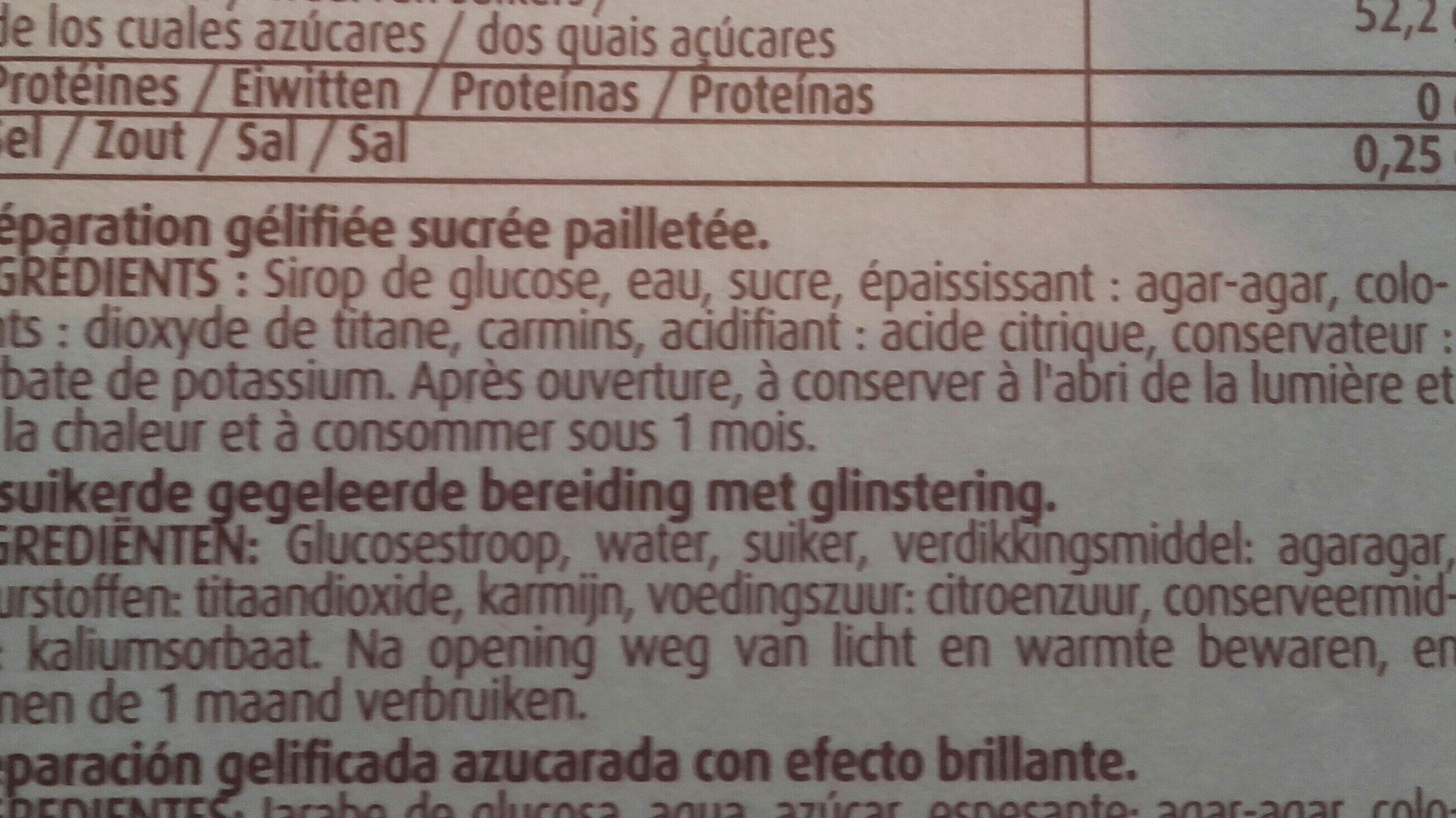 Crayon Patissier Vahine - Ingrediënten
