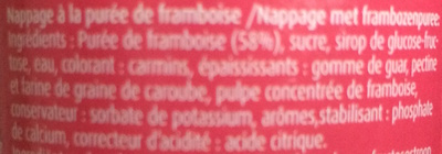 Nappage Framboise - Ingredients - fr