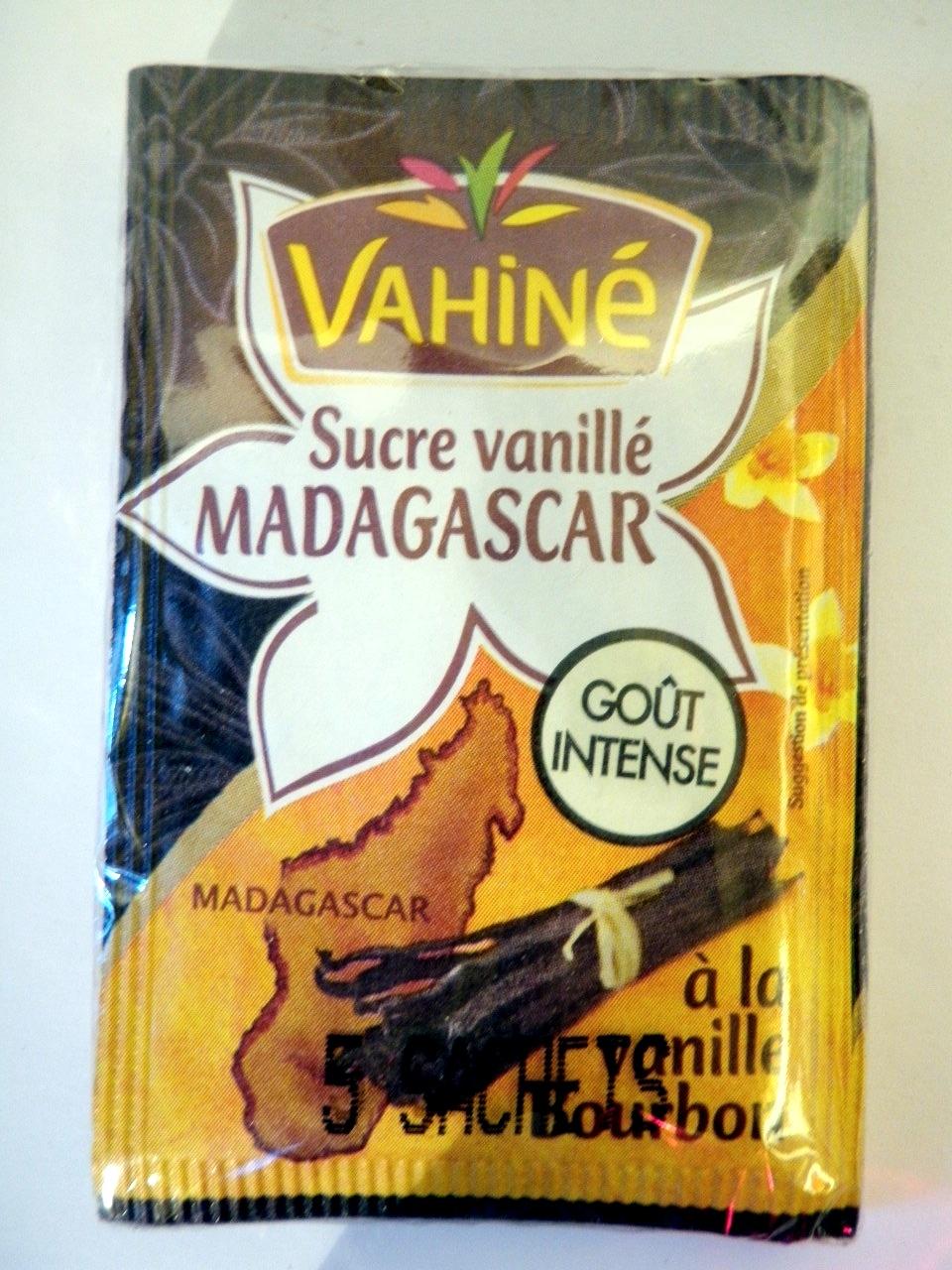 Sucre vanillé Madagascar à la vanille Bourbon (5 sachets) - Vahiné - Produit - fr