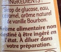 Vanille Bourbon Arôme naturel - Ingredienti - fr
