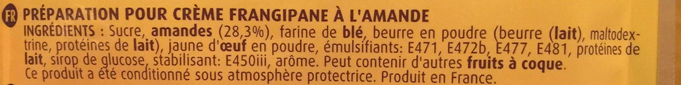 Vahiné Préparation Pour Frangipane +fève +couronne 250g - Ingrédients - fr