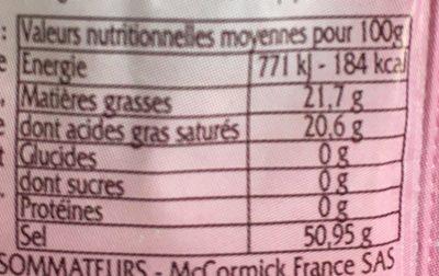 Levure Chimique Moell .5 Sacht Vahine - Valori nutrizionali - fr