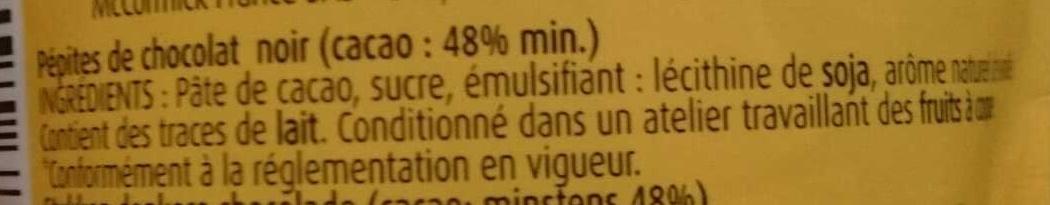 Pépites Chunks - Ingredients - fr