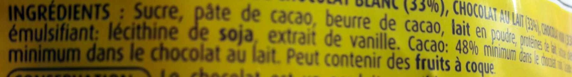 Pépites chunks 3 chocos - Ingredienti - fr