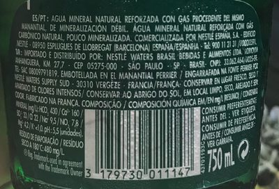 Agua con gas - Ingredients