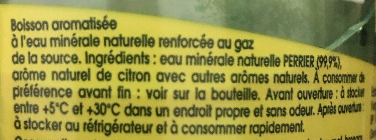 Perrier saveur citron - Ingredients - fr